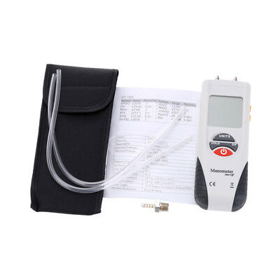 LCD Mini Digital Manometer Differential Gauge Air Pressure Meter HT-1890 U4J3