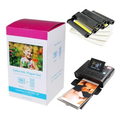 KP-108IN 3 x Ink and 108 Paper Sheets Compatible Canon Selphy CP1000 CP1200 NEW