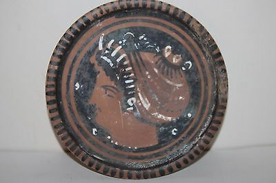 ANCIENT GREEK POTTERY RED FIGURE PLATE 4th century BC