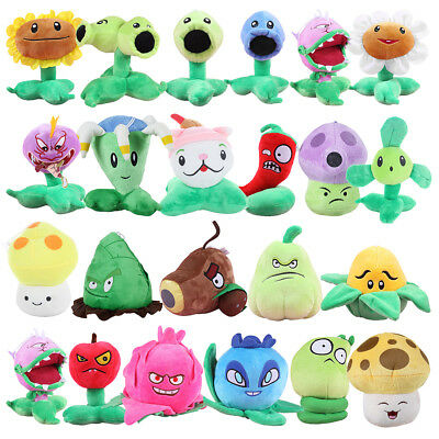 Game Plants vs Zombies Soft Doll PVZ  Plush Baby Staff Toy Stuffed Figures Gift