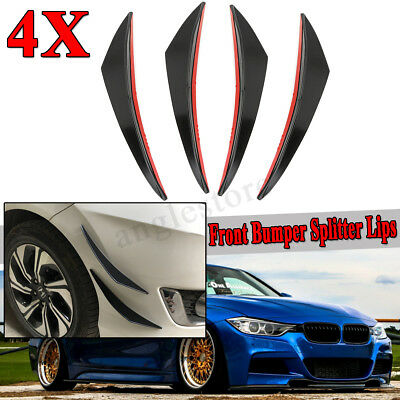 Universal 4stk Carbon Look Front Spoiler Set Lippe Canards Splitter Auto Flaps