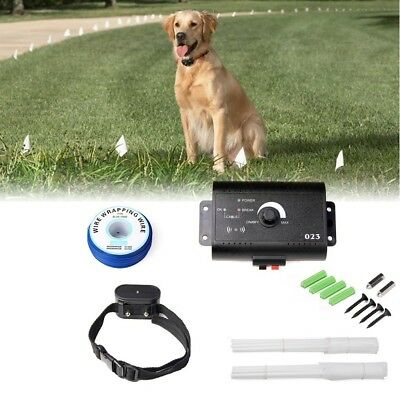 Waterproof Electric Dog Fence Hidden Pet Barrier Fencing System Training Collar