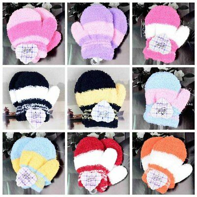 Cute Infant Baby Kid Boys Girls Warm Winter Gloves Toddler Knit Cute Mittens New