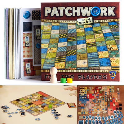 Patchwork Board Game For Two Players Funny Party Cards Game English Version CA