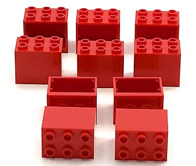 Flush Lego Containers Cupboard 4x4x4 with Shelf Red x2