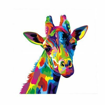 1X(Colourful Giraffe Animal Canvas Painting Print Picture Wall Art Unframed J2D2