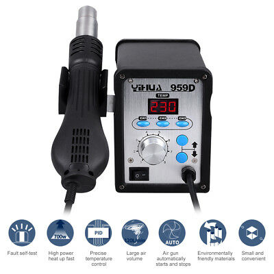 959D SMD Hot Air Gun Soldering Iron Station Rework Welder Desoldering Welding UK