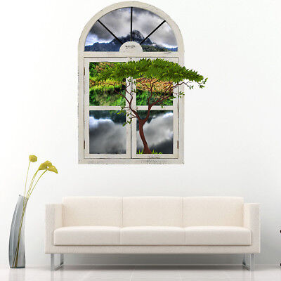 M833 Scenic Trees Nature Hall Bath Wall Stickers Bedroom Girls Boys Living Kids