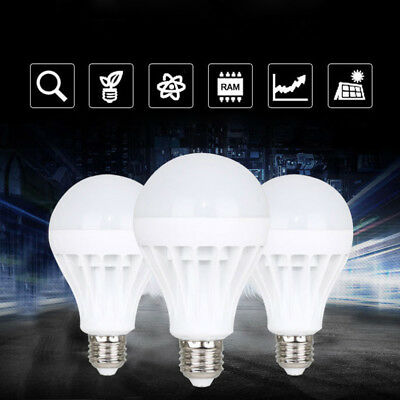Smart LED E27 5/7/9/12/15W Emergency Light Bulb Cool White Intelligent Lamp F