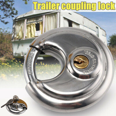 Universal Hitchlock Trailer Hitch Coupling Lock Tow Ball Lock Caravan Lock & Key