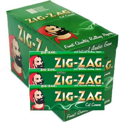 Zig Zag Green Regular Standard Smoking Rolling Papers- 1/5/10/25/50/100 Booklets
