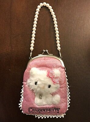 Authentic Sanrio Hello Kitty Charmmy Kitty Pearl Snap Clutch Purse 2004 - 2005