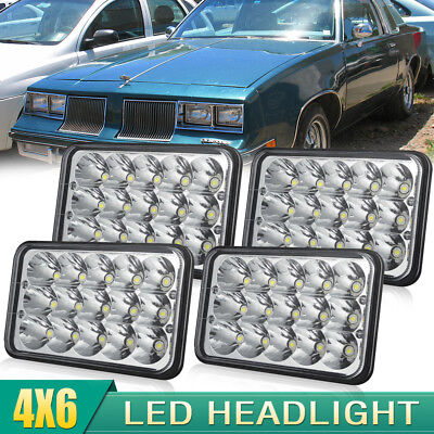 4pcs 4x6 LED HEADLIGHTS Fit GMC Chevy Kenworth H4652 H4656 H4651 H4668 LIGHT