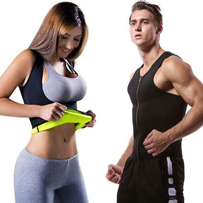 Hot Body Shaper Sweat Vest Slimming Shapewear Fitness Shirt Sauna Top Women Men
