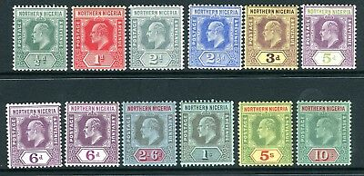 NORTHERN NIGERIA-1910-11 LMM set to 10/- with both 6d shades Sg 28-39
