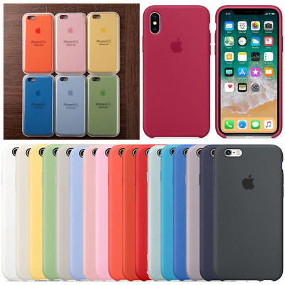 OEM Original Silicone/Leather Case For iPhone XS XR 6 7 8 Plus X Genuine Cover