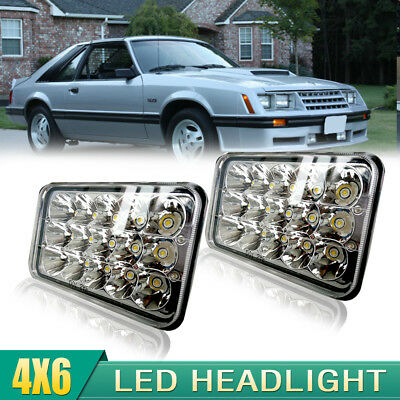 2pcs 4x6 LED HEADLIGHTS For Kenworth GMC Chevy H4652 H4656 H4651 H4668 LIGHT