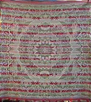 Antique Woven Jacquard Coverlet With Eagles, #12924