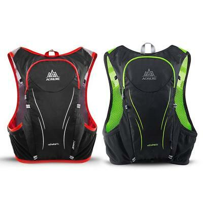 5L Enhanced Outdoor Running Backpack Marathon Hiking Cycling BackpackD S+
