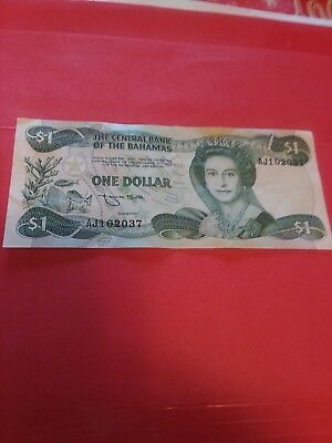 Canada (Bahamas) 1973 1 dollar paper currency in a fine condition bank note.