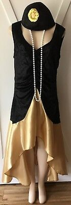 Womens Plus Costume New Flapper 1X Gatsby XL 14 16 Cute Deluxe Masquerade Deal