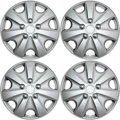 4pc Hub Cap Abs Silver 15 Inch Wheel Cover Caps Fits Oem Steel Rims