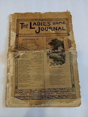 Antique The Ladies Home Journal Aug 1890 Fashion/Crafts/Articles/Ads
