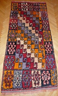 Extremely Rare 1920's Antique Caucasian Handmade Carpet Express Shipping 4' X 9'