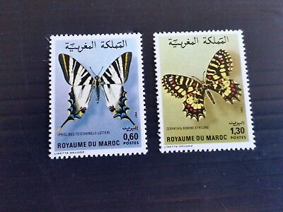 Morocco 1981 Sg 583-584  Butterflies (1St Series) Mnh (Y)