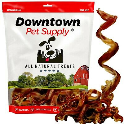 """USA Free Range 7"""" - 9"""" Thick Curly Bully Sticks for Dogs Odor Free Dental Chews"""