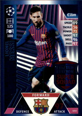 Champions League 18/19 - Karte LE11  - Lionel Messi-Limited Edition Super Squad