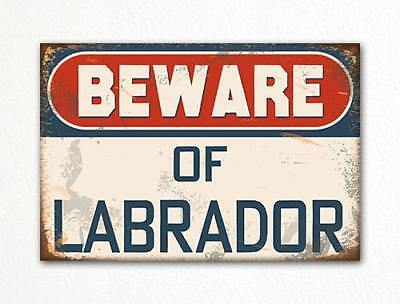 Beware of Labrador Dog Breed Cute Fridge Magnet