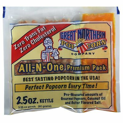 Case of 24 Popcorn Packs Oil Salt Tri-Packs 2.5 Ounce Just Pour and Pop