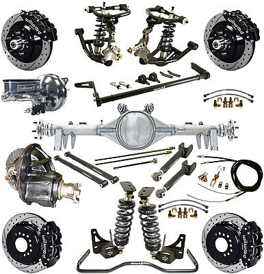 """Ridetech Coilover System,currie Rear End,wilwood Disc Brakes,13"""" Drilled,black"""