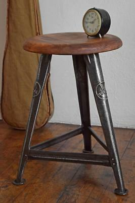 Original Old Rowac Stool Hocker Loft Werkstatthocker Antik Alt, 4x marked Chair