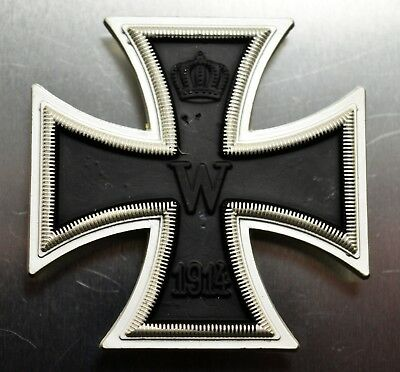 Superb Full Size Replica Iron Cross Medal with Ribbon Germany/Prussia WW1 1914