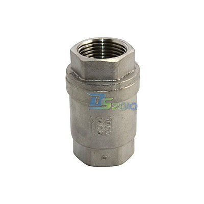 """1""""Check Valve WOG1000 Spring Loaded In-line Stainless Steel SS316 CF8M NPT Valve"""