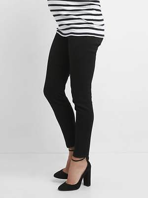 Gap Maternity Inset Panel True Skinny Jeans in Black ~ NWT ~ Size 30 / Size 10