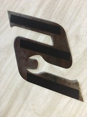 "Snap On  Brushed Stainless Steel ""S"" Magnetic Logo"