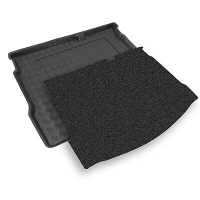 Volvo S80 Saloon Boot Liner (2006+)  PVC Tailored [with a SAT NAV in the BOOT]