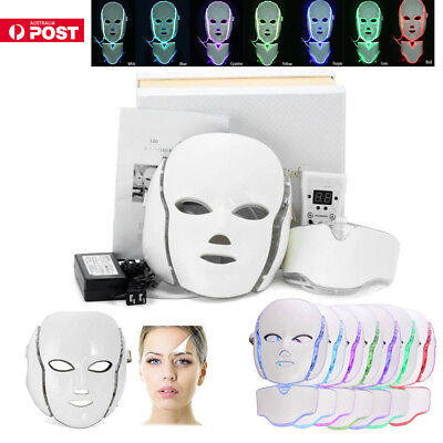 3 / 7 Colors LED Light Photon Face Mask Rejuvenation Skin Facial Therapy Wrinkle