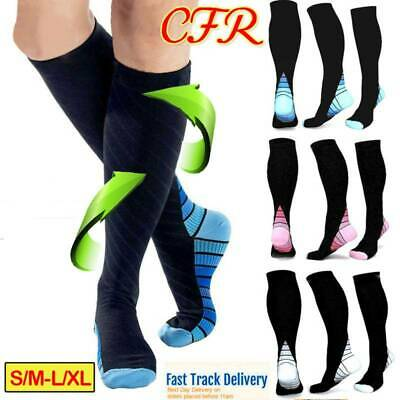 Compression Socks 15-30mmHg Medical Stockings Travel Flight Sports Leg Sleeve AU