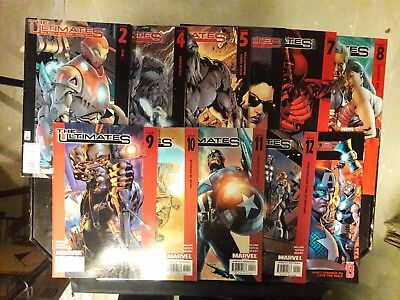 The Ultimates  (2002) 11 Book Lot #'s 2,4,5,6,7,8,9,10,11,12 & 13  VF+/NM