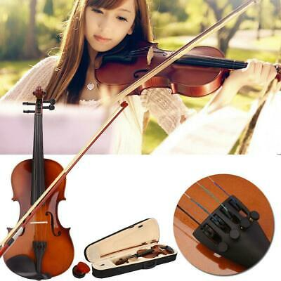 School Season  4/4 Size Acoustic Violin Set w/ Case + Bow + Rosin for Student