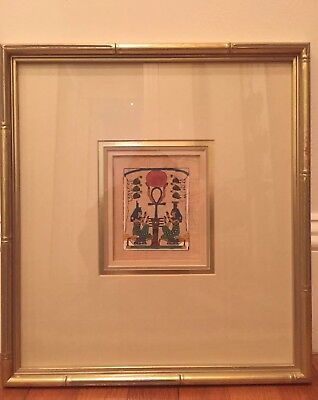 Original Egyptian Painting on Papyrus Paper, Beautifully Framed