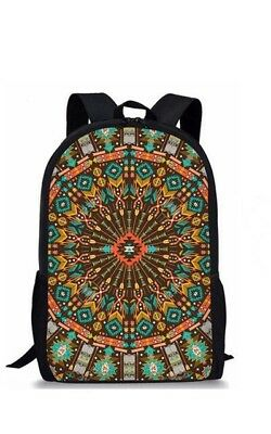 Dzifa African Print Backpack for Adults Students Teenagers Kids School Bags