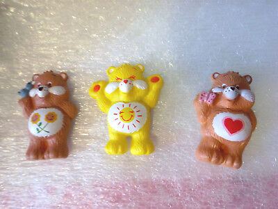 3 Care Bear magnets Friend, Funshine and Tender Heart