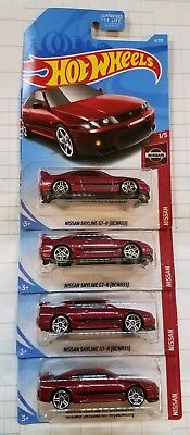 2019 Hot Wheels Nissan Skyline GT-R (BCNR33) Red JDM NISMO Lot of 4!