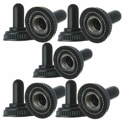 10pcs Black Rubber Resistance Cap Cover Waterproof Toggle Switch RH