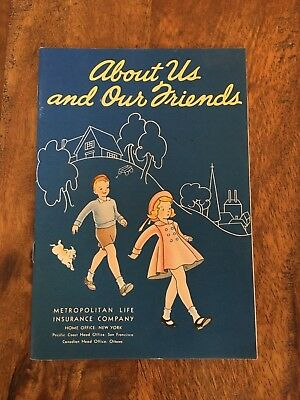 Original - 1930s Metropolitan Life Insurance KIDS DO GOOD & RIGHT book - MINT